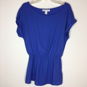 Forever21 Periwinkle Peplum Style Loose Fit Blouse